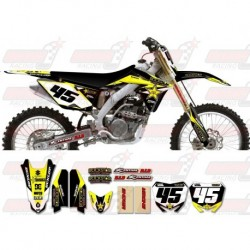 Kit décoration Suzuki Rockstar Graphic Kit - Factory Black / Yellow 11