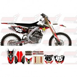 Kit décoration Suzuki Rockstar Graphic Kit - Factory White / Black 11