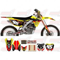 Kit décoration Suzuki Rockstar Graphic Kit - Factory Yellow / Black 11