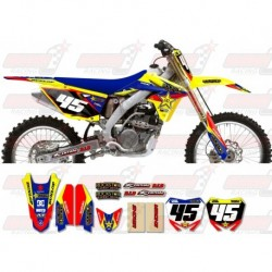 Kit décoration Suzuki Rockstar Graphic Kit - Factory Yellow / Blue 11