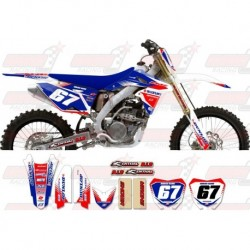 Kit décoration Suzuki Zeronine Graphic Kit - Targa2 White / Blue / Red