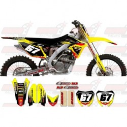 Kit décoration Suzuki Zeronine Graphic Kit - Targa2 Yellow / Black