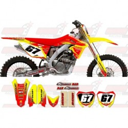 Kit décoration Suzuki Zeronine Graphic Kit - Targa2 Yellow / Red