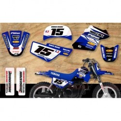 Kit décoration Yamaha PW50 Race Team Graphic Kit - Muscle Milk Blue / Blue
