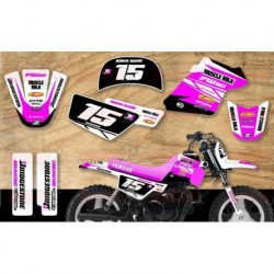 Kit décoration Yamaha PW50 Race Team Graphic Kit - Muscle Milk Pink / White