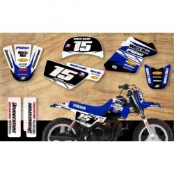 Kit décoration Yamaha PW50 Race Team Graphic Kit - Muscle Milk White / Blue
