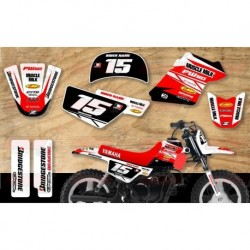 Kit décoration Yamaha PW50 Race Team Graphic Kit - Muscle Milk Red / White
