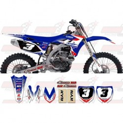 Kit décoration Yamaha Zeronine Graphic Kit - Targa2 Blue / Red