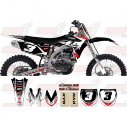 Kit décoration Yamaha Zeronine Graphic Kit - Targa2 Black / Red