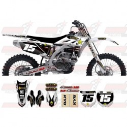 Kit décoration Yamaha Rockstar Graphic Kit - Factory White / Silver 11