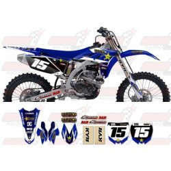 Kit décoration Yamaha Rockstar Graphic Kit - Factory Blue / Blue 11