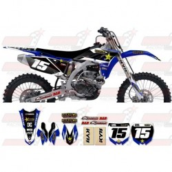 Kit décoration Yamaha Rockstar Graphic Kit - Factory Blue / Black 11